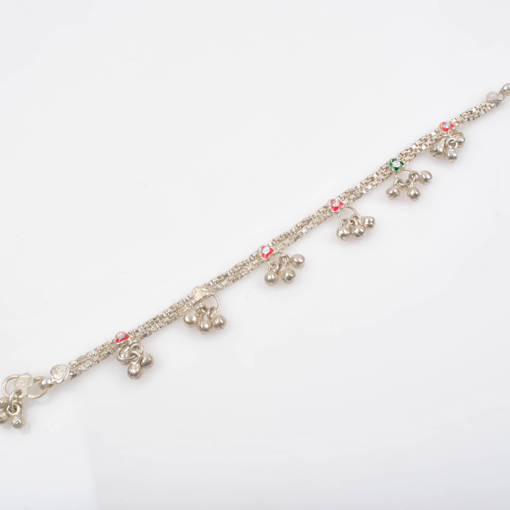 900 Silver Dangle Bracelet