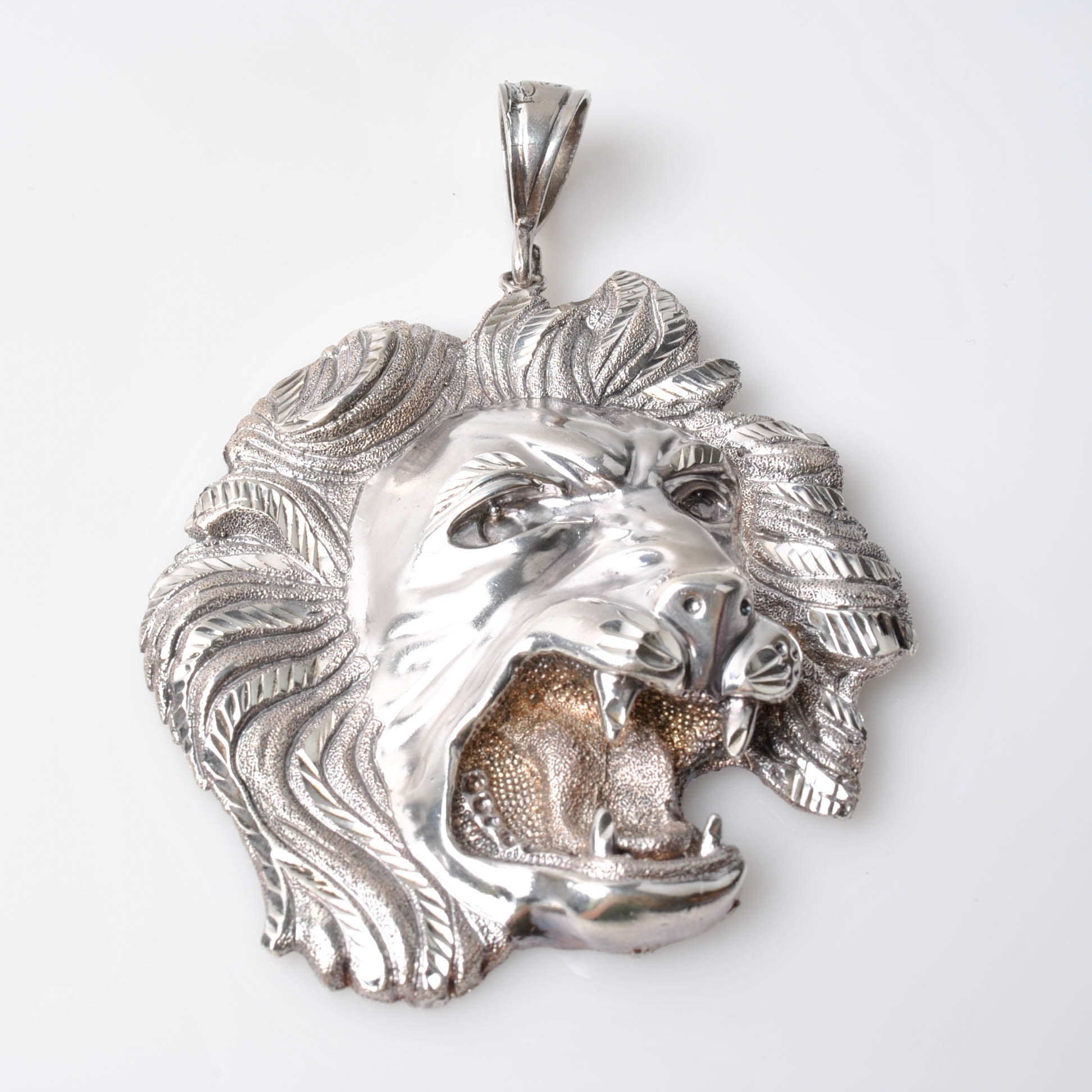 """1 Of A Kind"" Sterling Silver Lion Pendant"