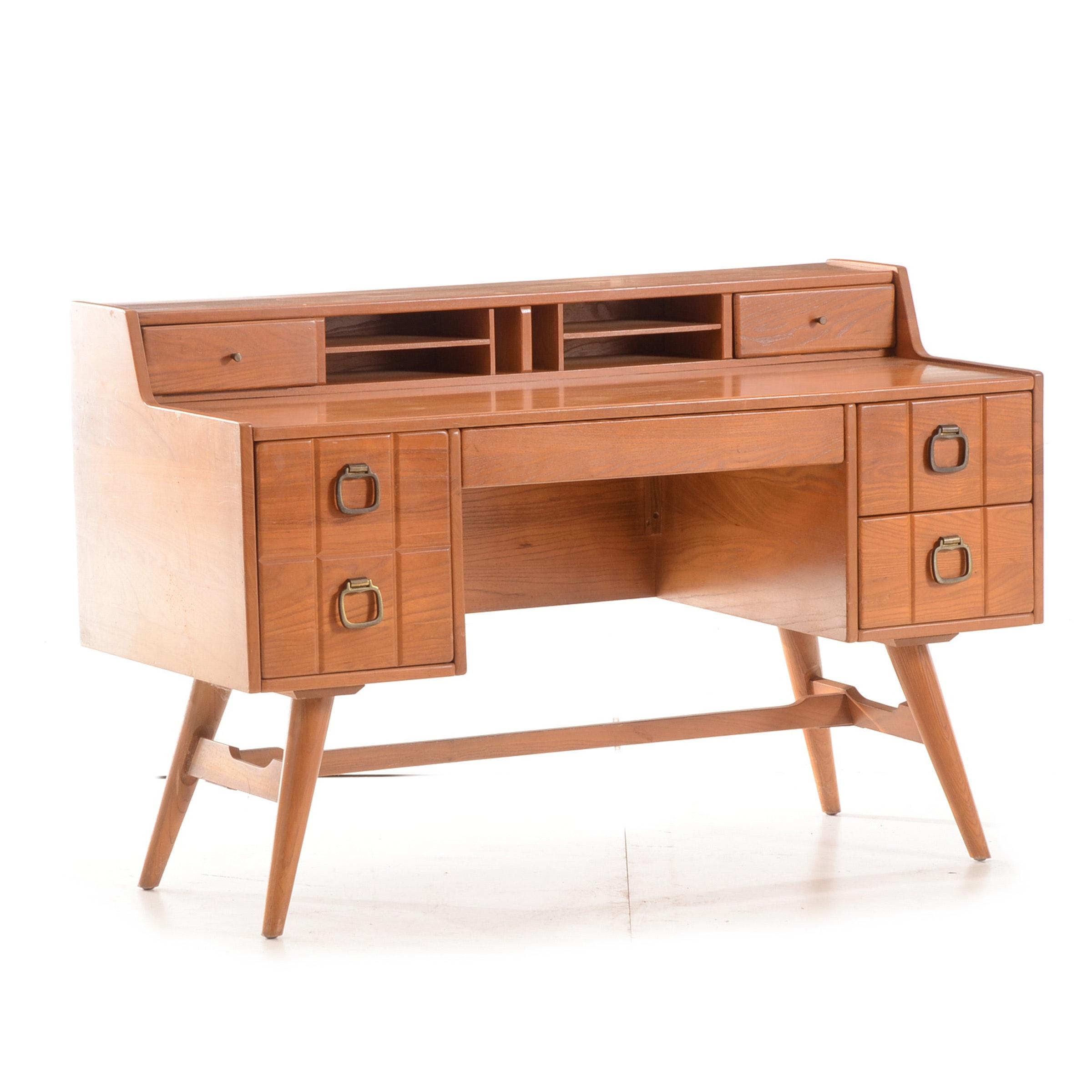Vintage Walnut Desk by Owosso