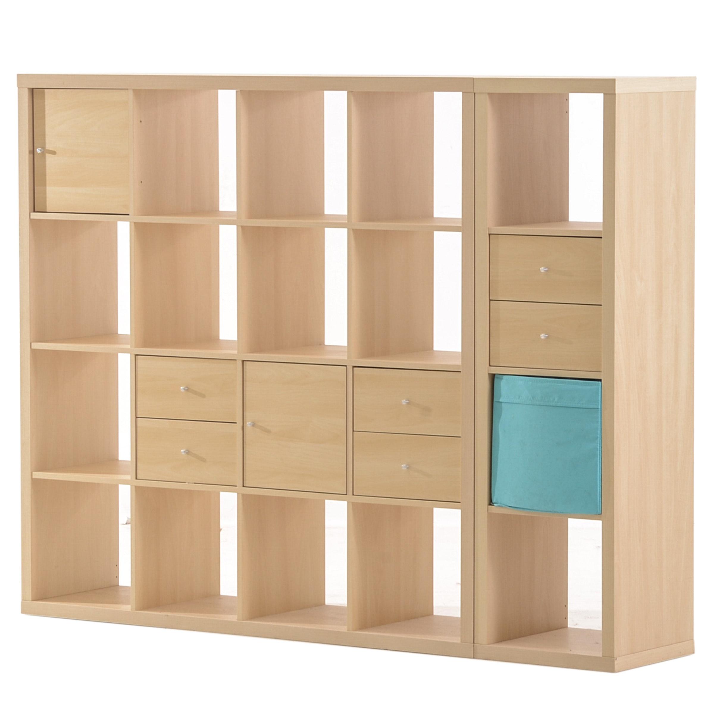 Ikea Maple Laminate Divided Shelving Units