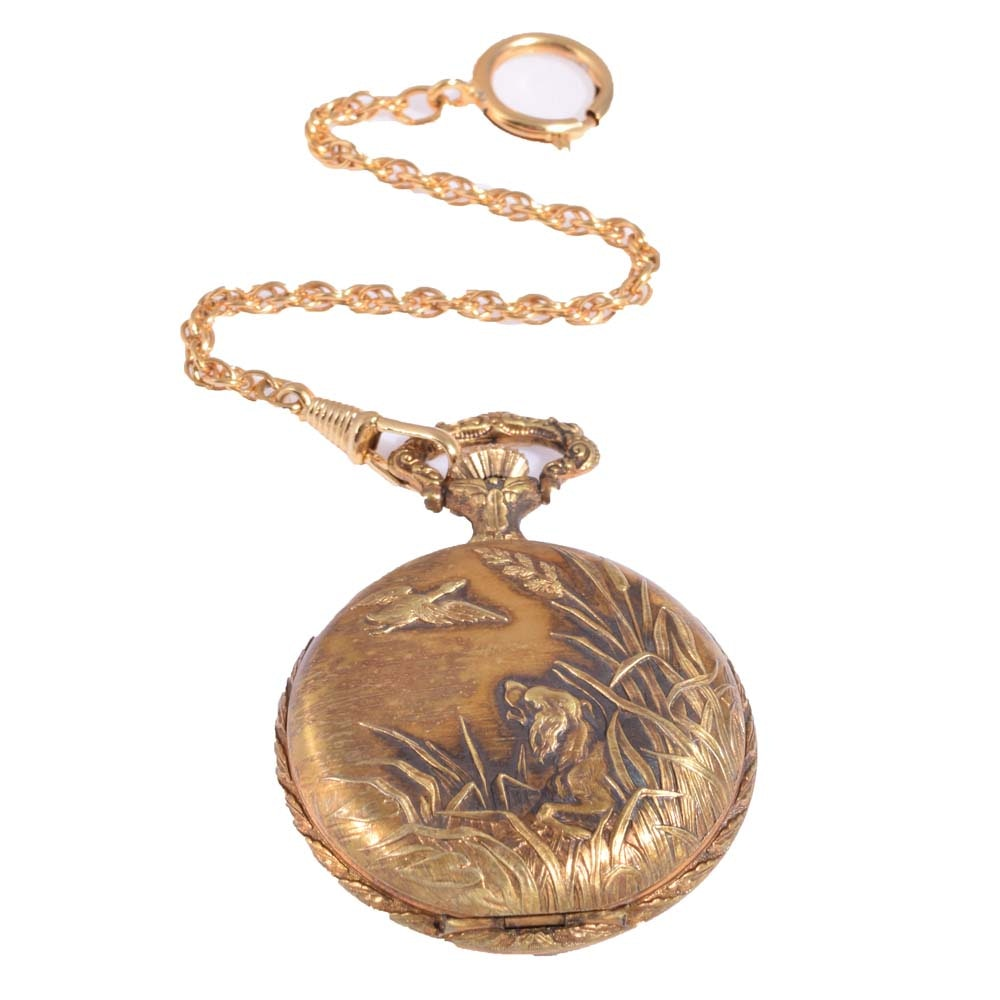 Gold-Filled Orvis Pocket Watch with Fob