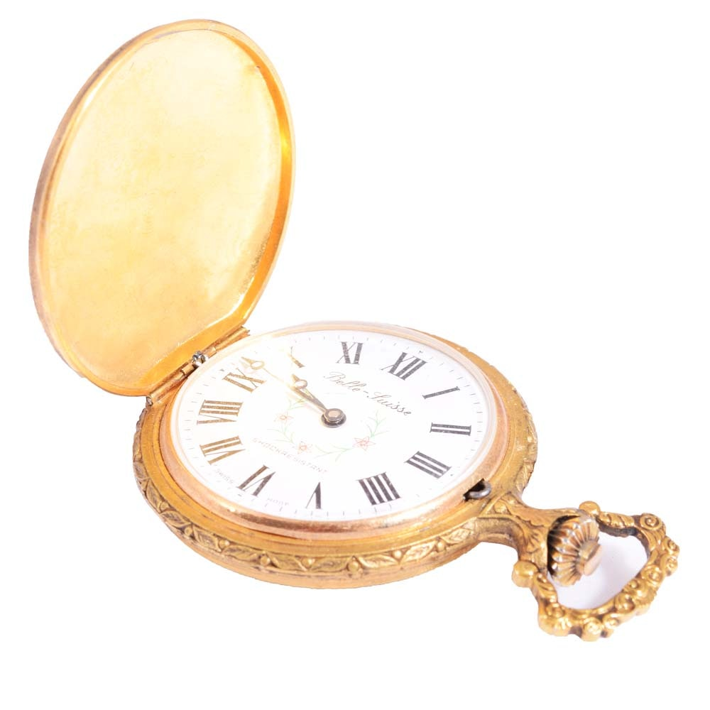 Belle Luisse Gold Filled Pocket Watch