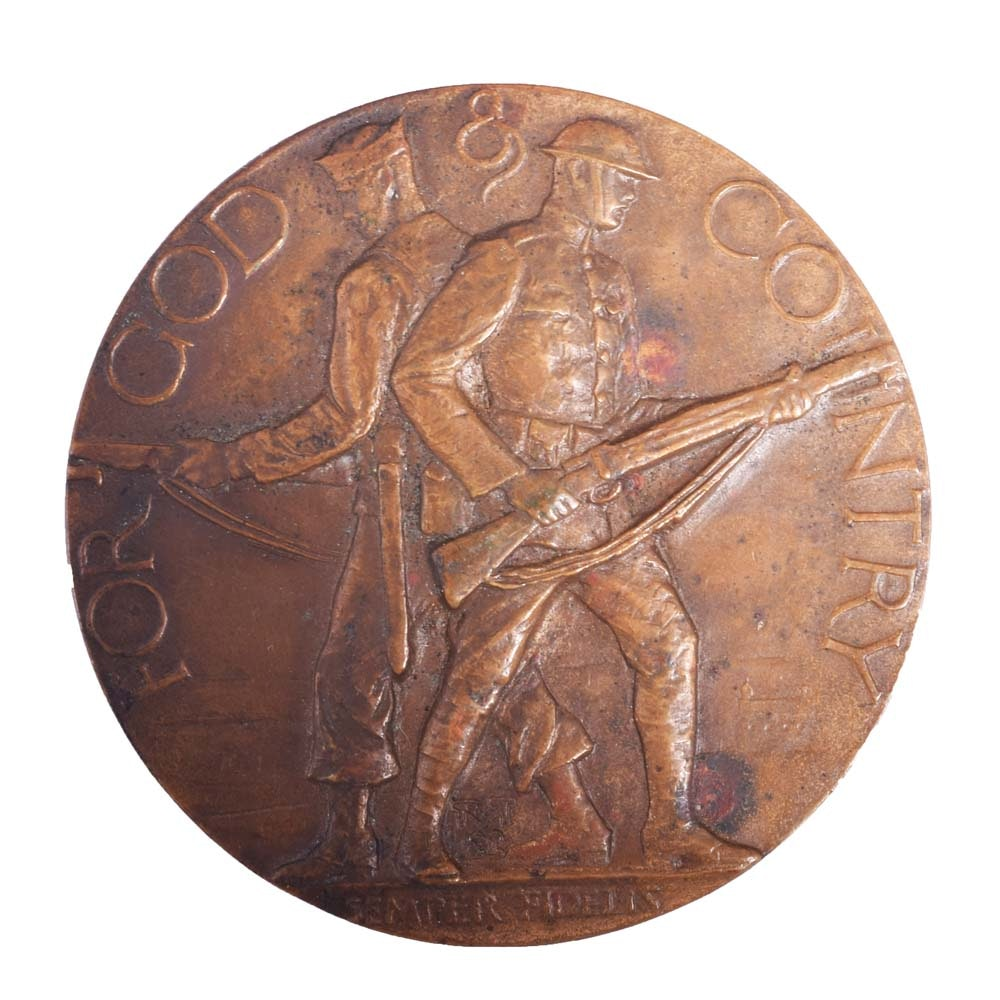 Vintage Bronze American Legion School Award Medallion