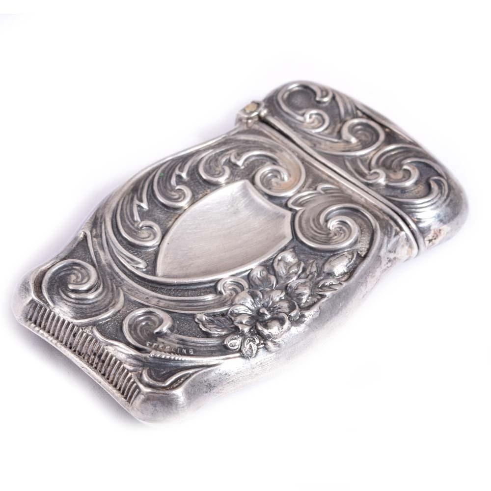Vintage Sterling Silver Match Case