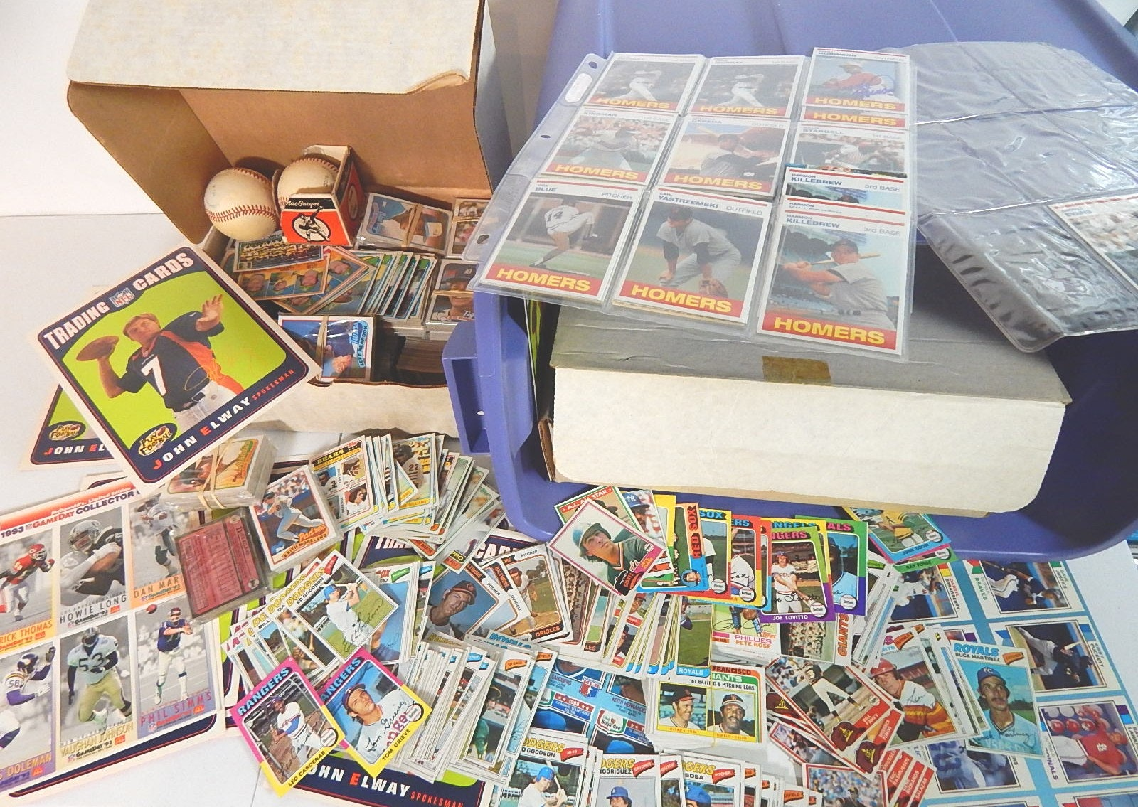 Tub of Mostly Baseball Cards - Around 5000 Card Count