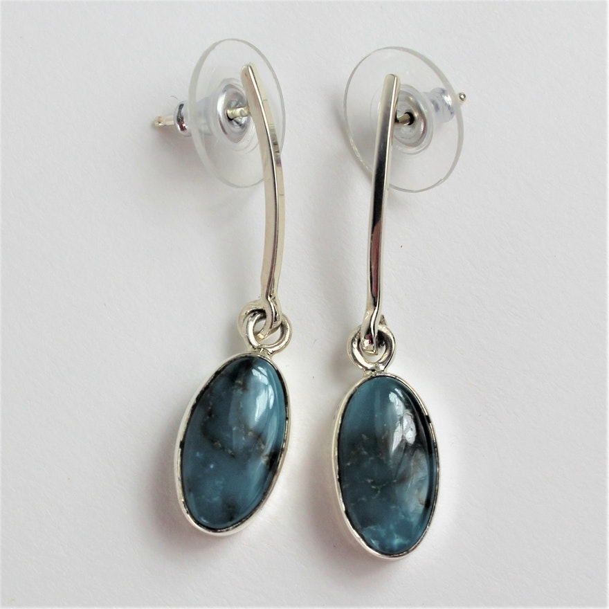 turquoise handmade home chic earrings