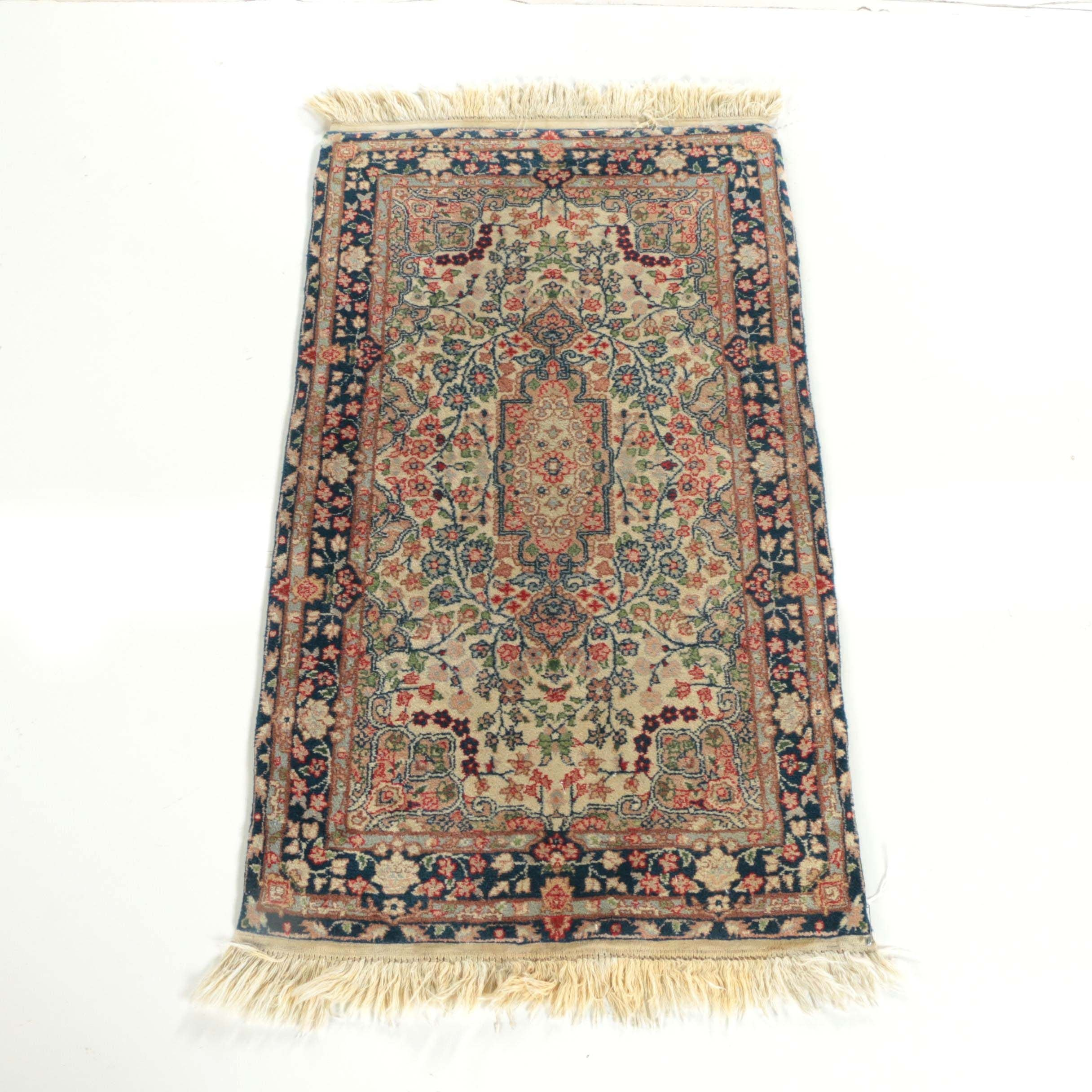 Hand-Knotted Sino-Persian Wool Accent Rug