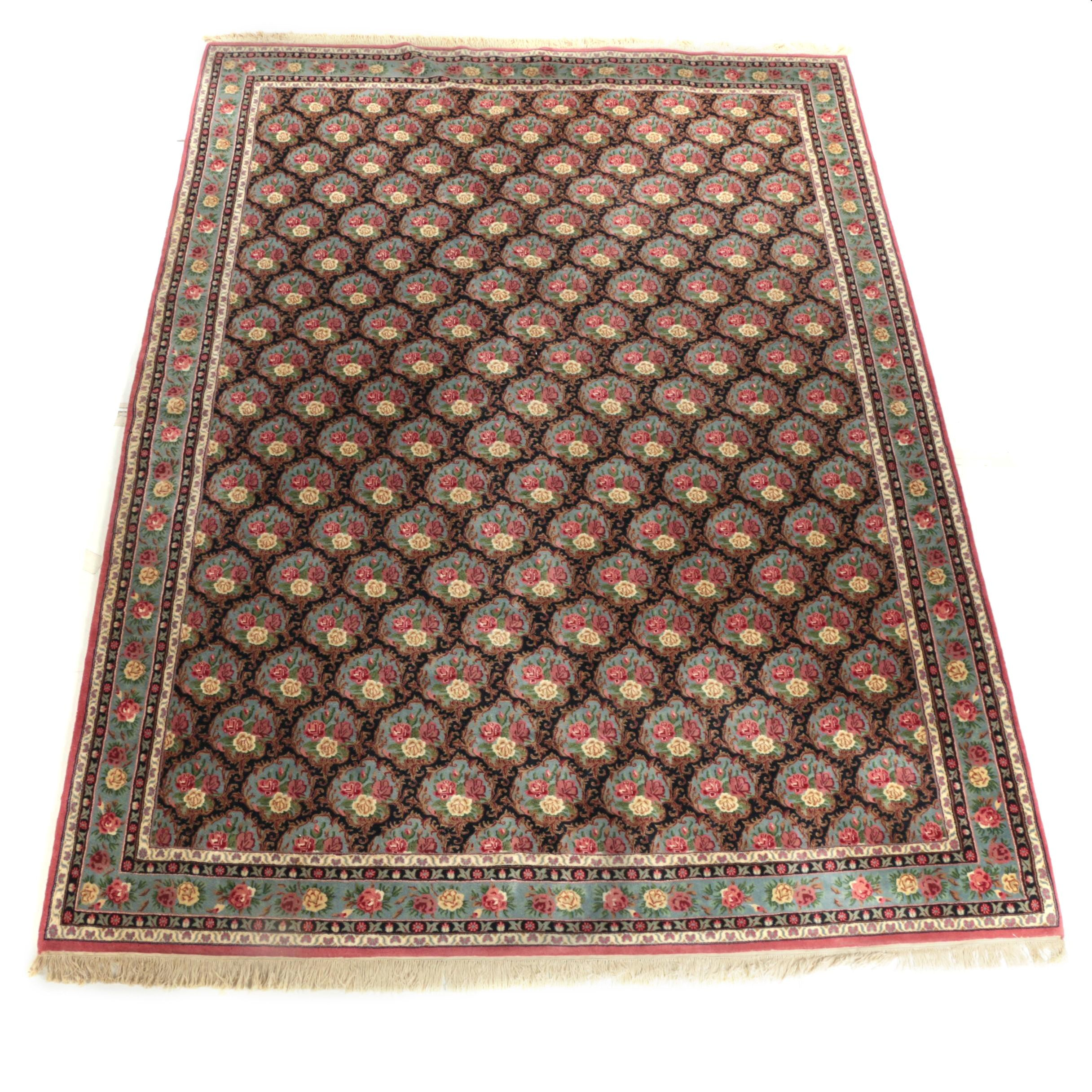 Hand-Knotted Sino-Persian Floral Area Rug