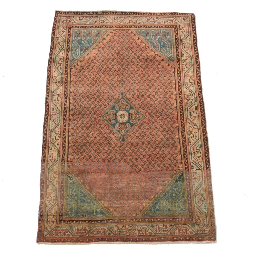 Vintage Hand-Knotted Persian Boteh Area Rug