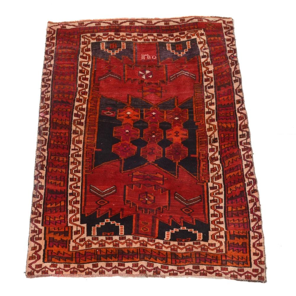 Vintage Hand-Knotted Persian Viss Heriz Rug