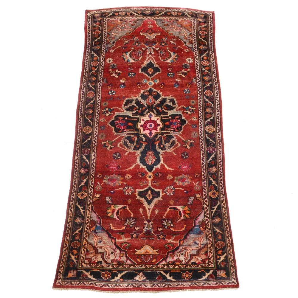 Vintage Hand-Knotted Persian Malayer Heriz Area Rug
