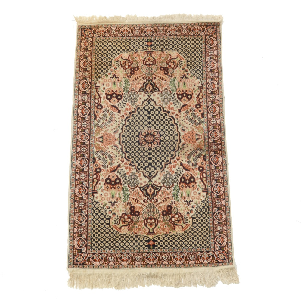 Finely Hand-Knotted Persian-Inspired Silk Blend Rug