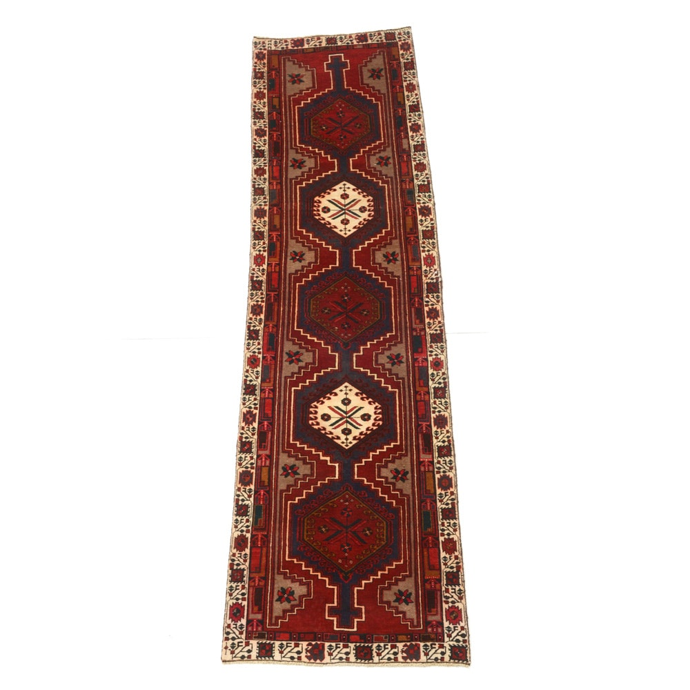 Hand-Knotted Persian Karaja Heriz Carpet Runner