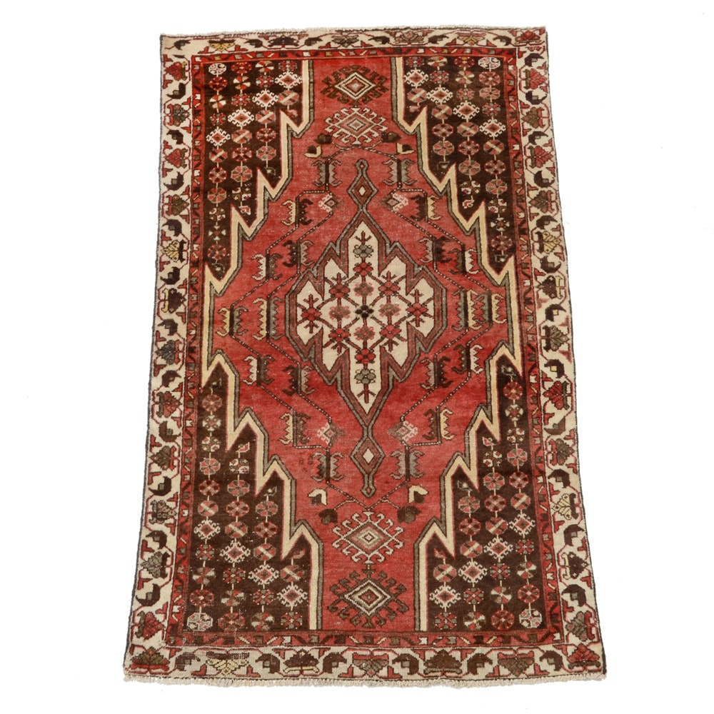Hand-Knotted Persian Mazlaghan Area Rug