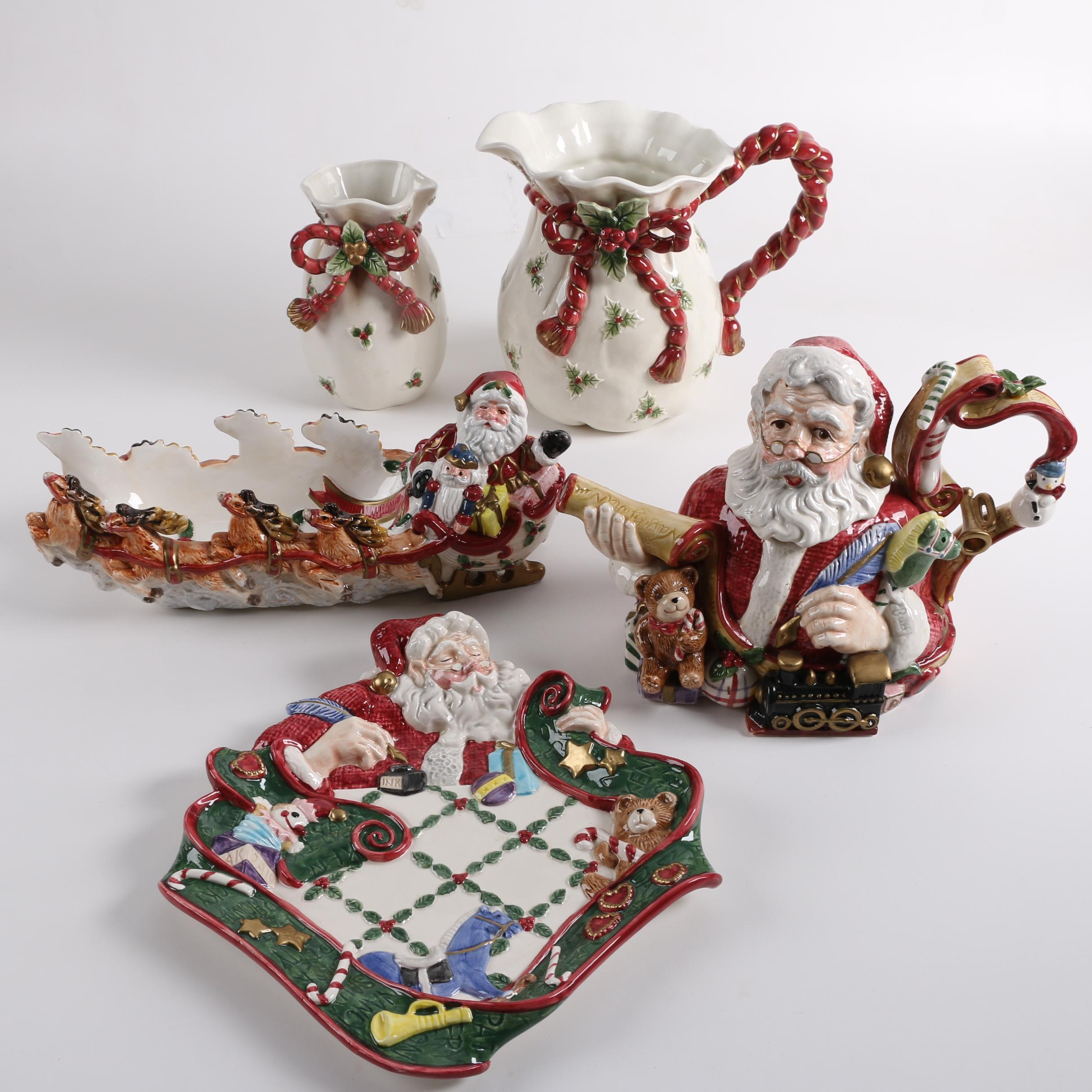 Fitz and Floyd Decorative Christmas Themed Tableware