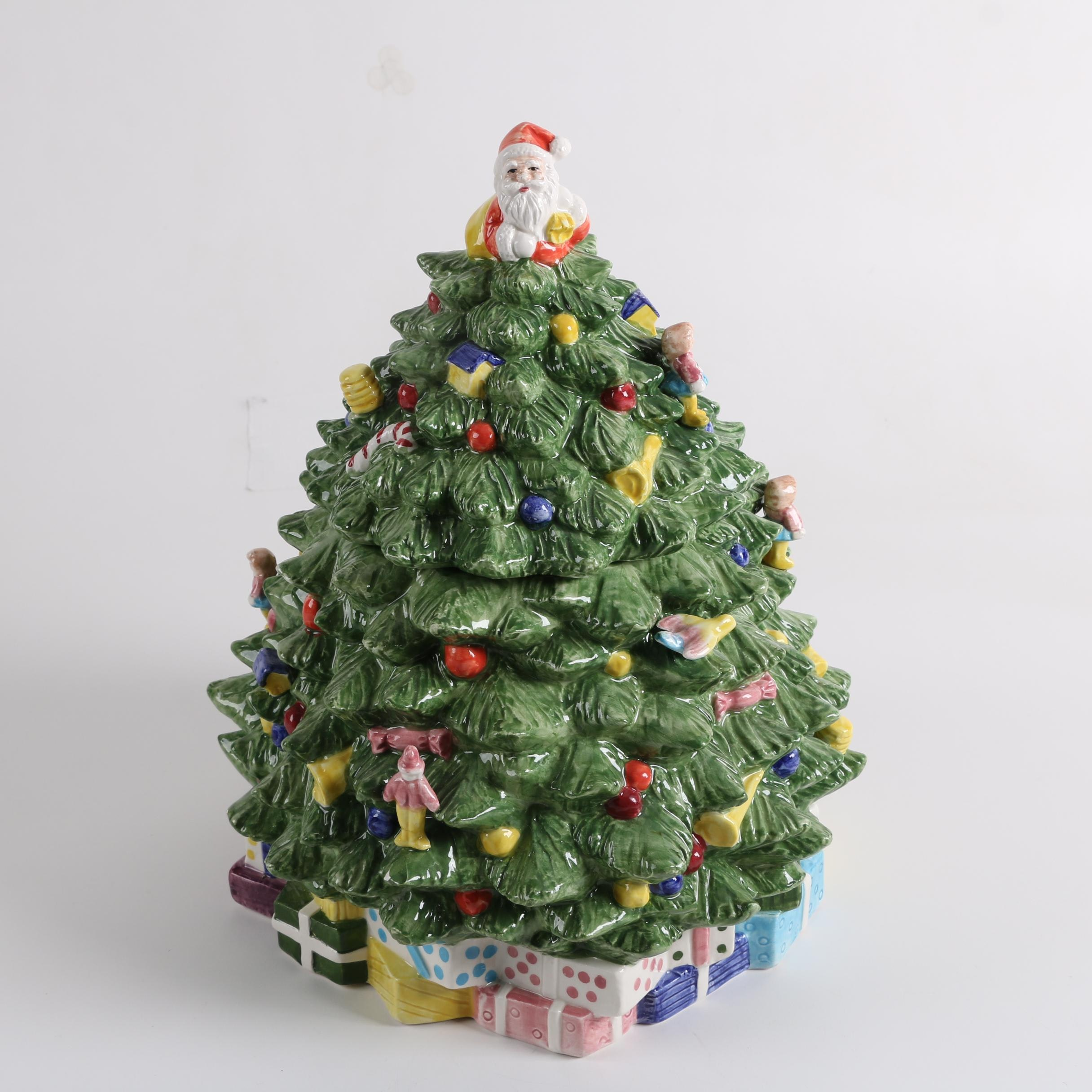 RCPC Earthenware Christmas Tree Cookie Jar