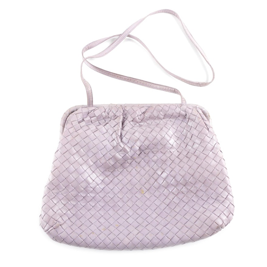 Bottega Veneta Intrecciato Lavender Leather Handbag   EBTH cdf7c7373736d