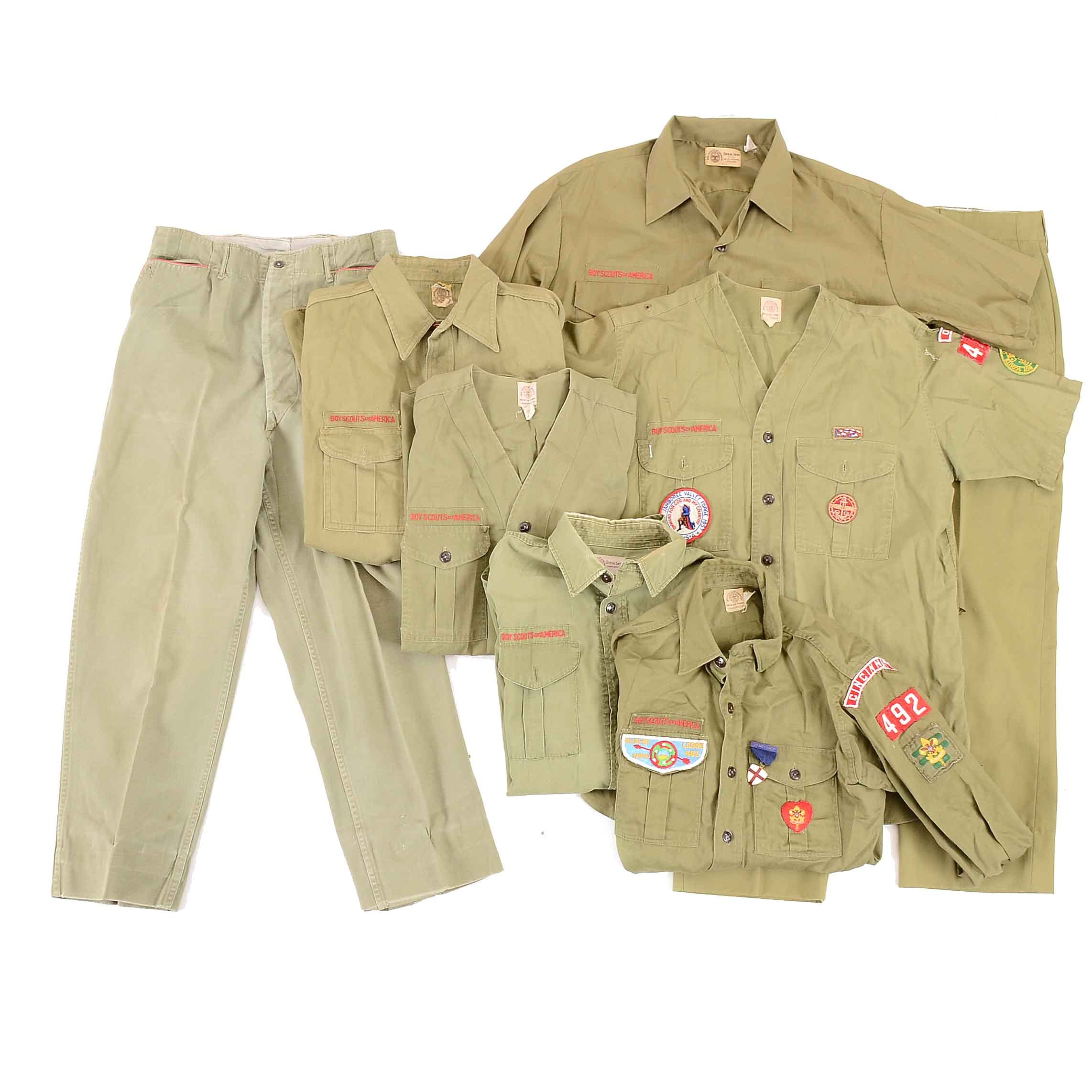 Collection of Vintage Boy Scout Uniform Parts