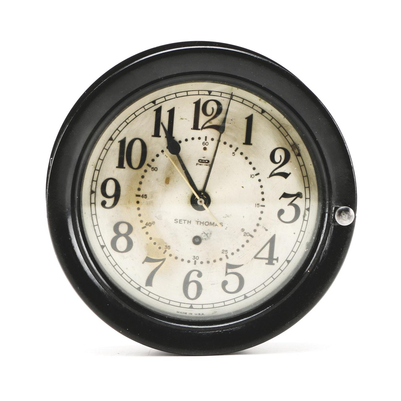 Seth Thomas Ship's Bell Clock