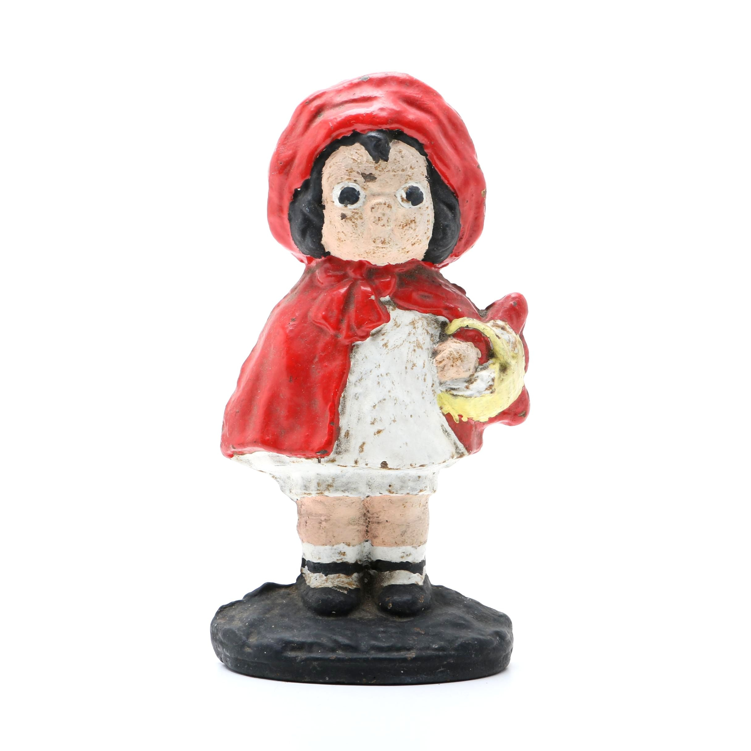 Cast-Iron Little Red Riding Hood Doorstop after Hubley
