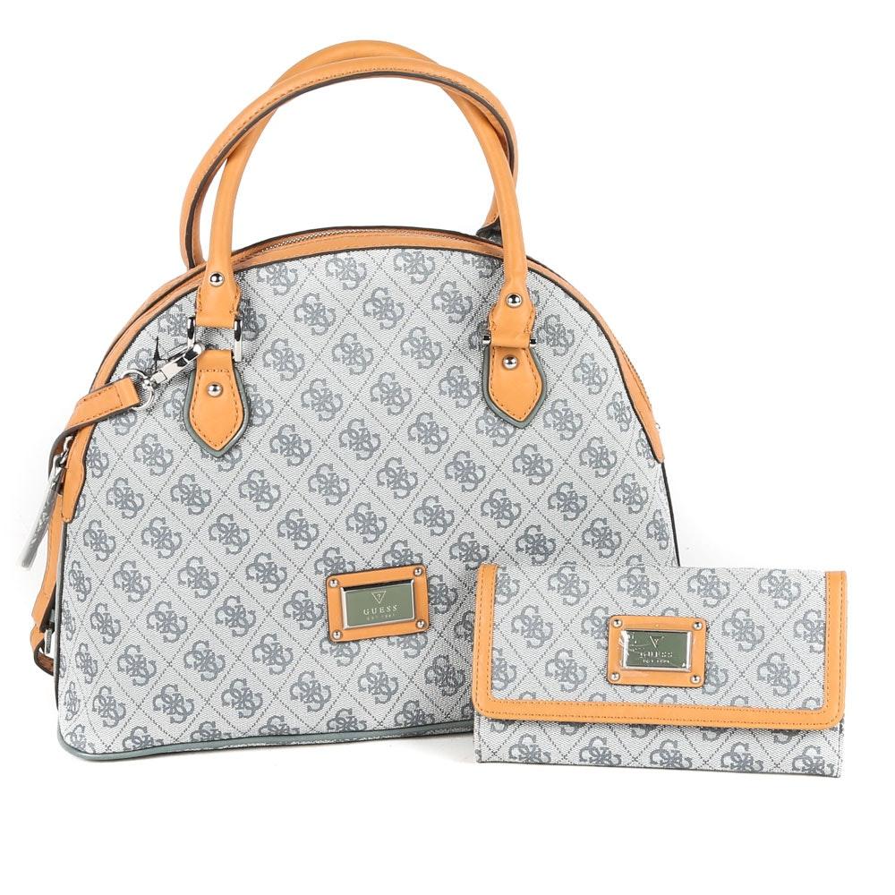 Guess Coated Canvas Handbag and Wallet