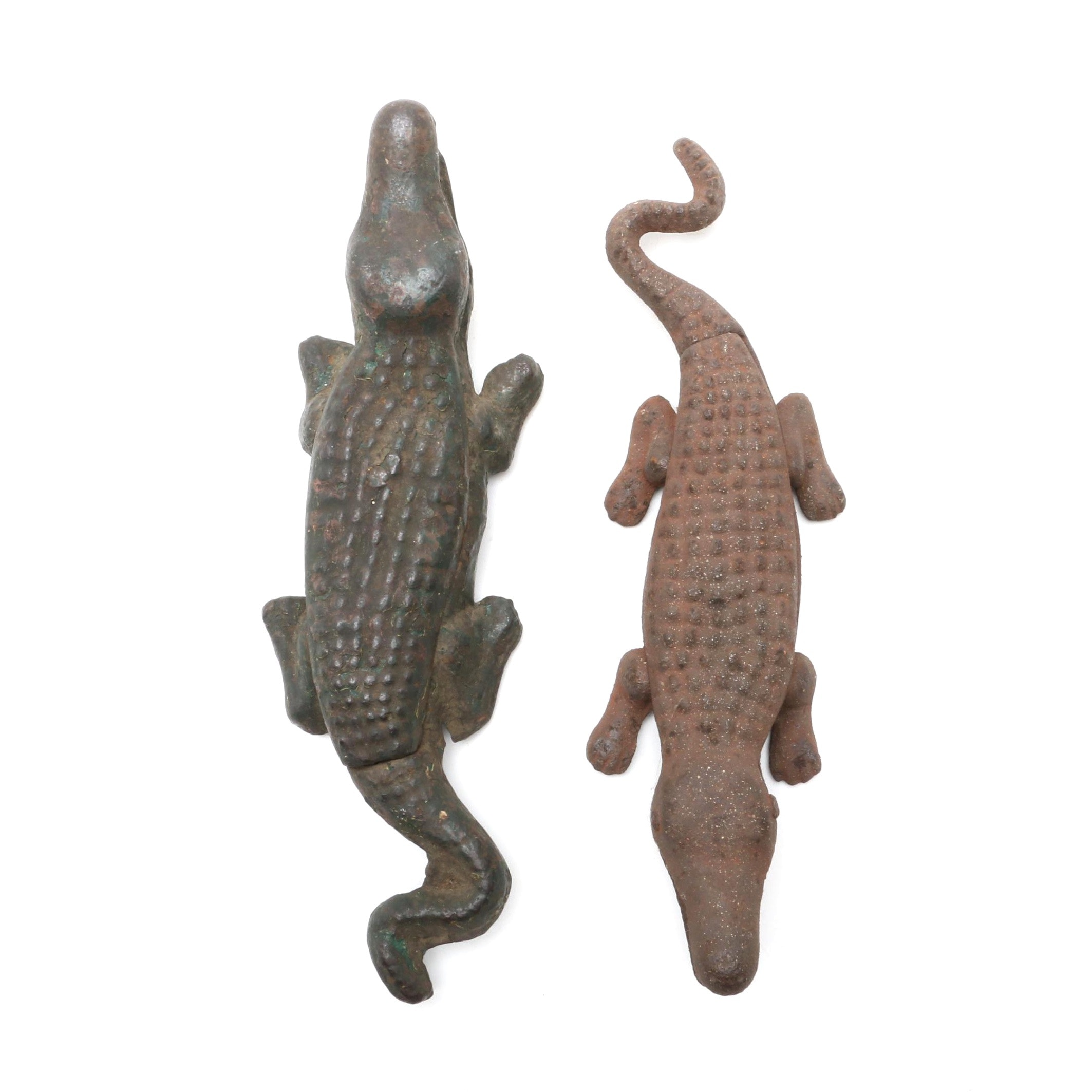 Cast-Iron Alligator Match Safe and Paperweight