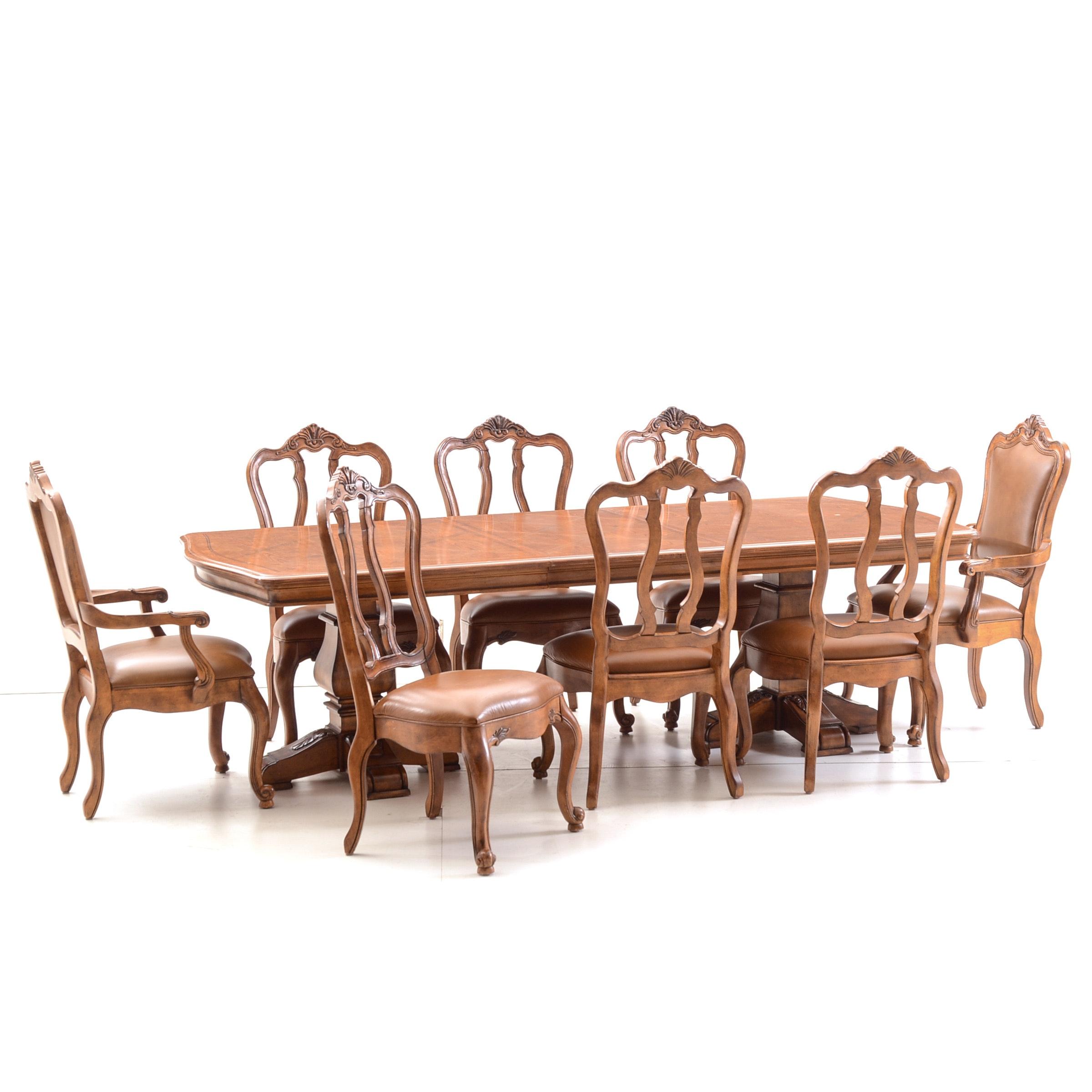 Ethan Allen Walnut Dining Set
