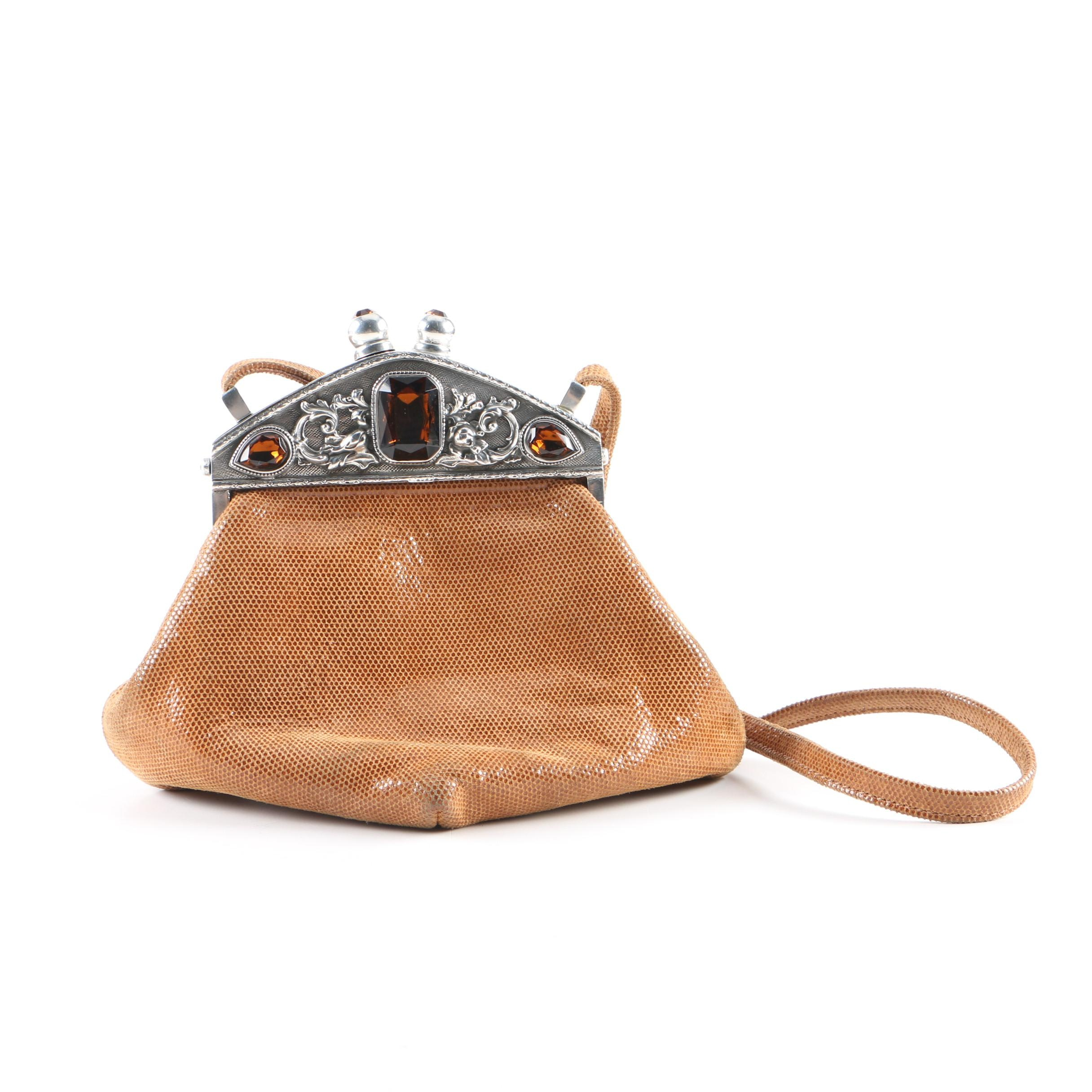Moulin Rouge Suede Evening Bag