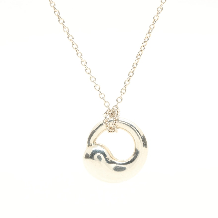 Elsa peretti for tiffany co sterling silver eternal circle elsa peretti for tiffany co sterling silver eternal circle necklace aloadofball Images