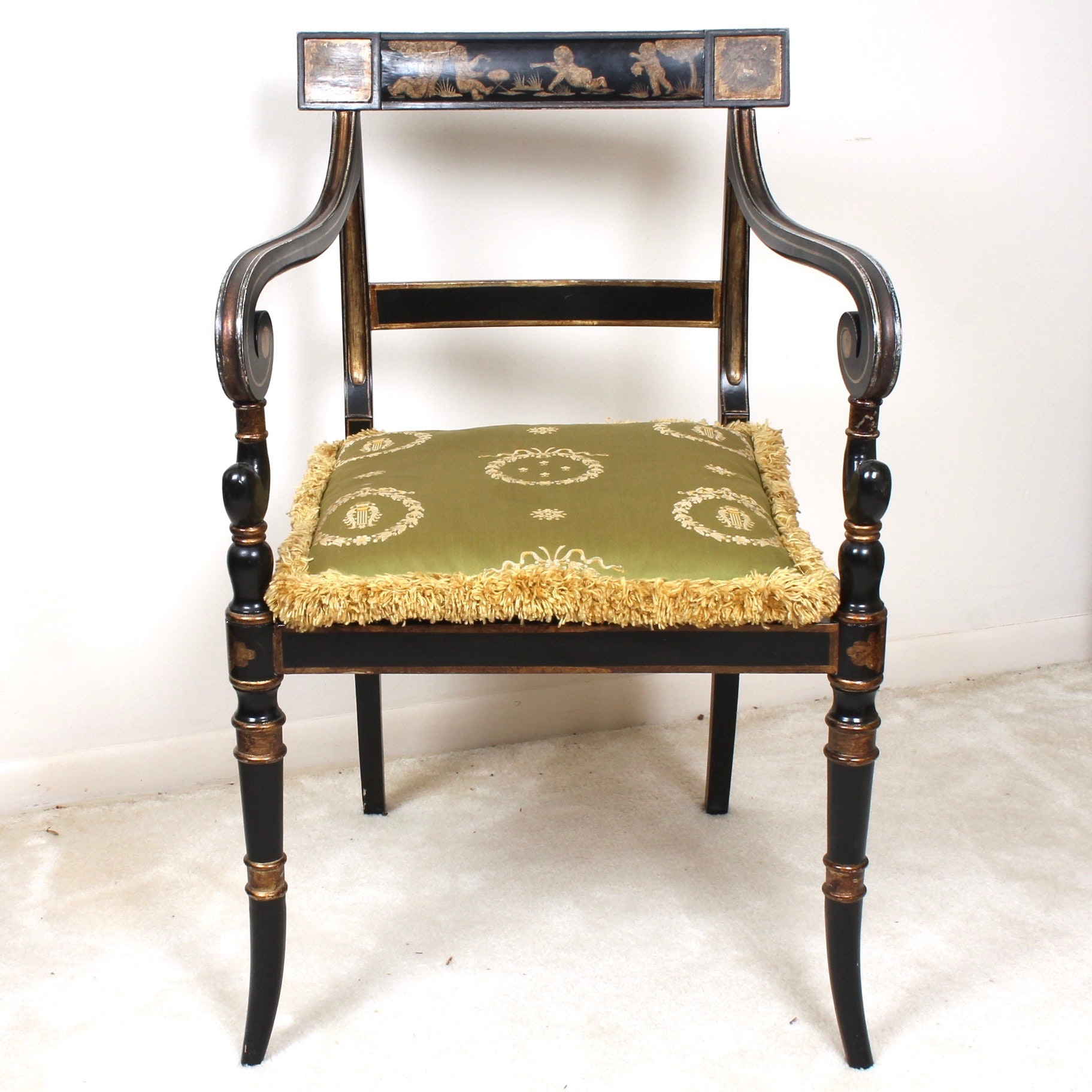 Vintage Century Furniture English Regency Style Armchair