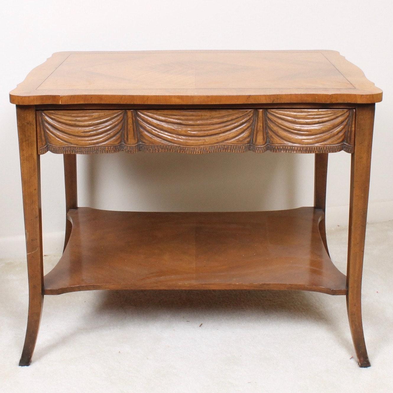 Vintage Baker Furniture Lamp Table