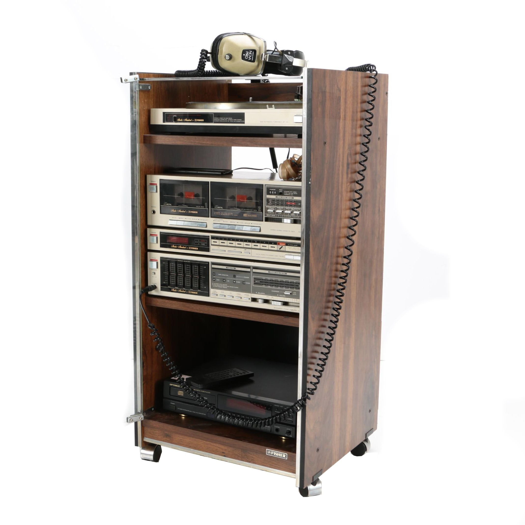 Fisher Stereo Standard Components and Cabinet
