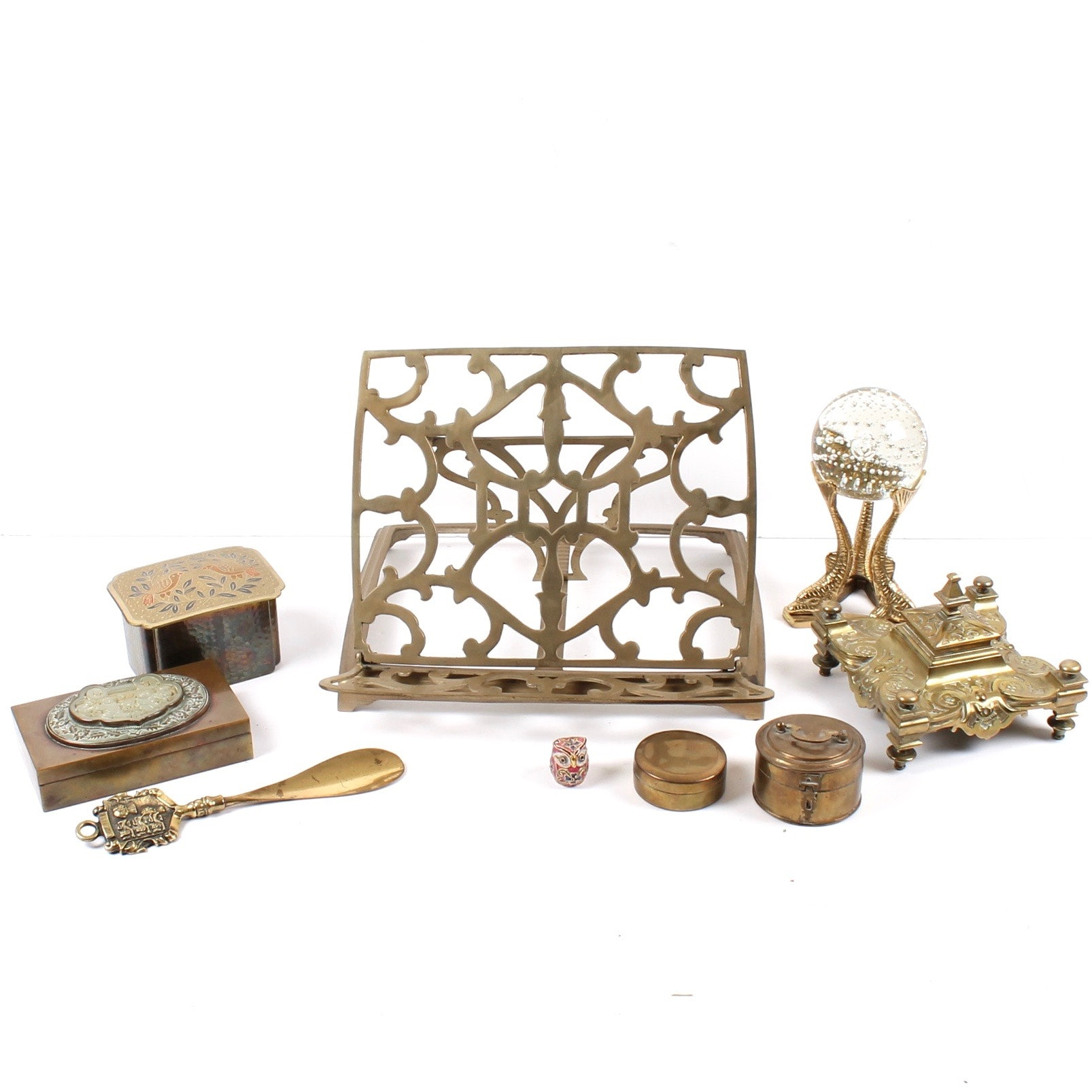 Vintage Brass Desk Accessories