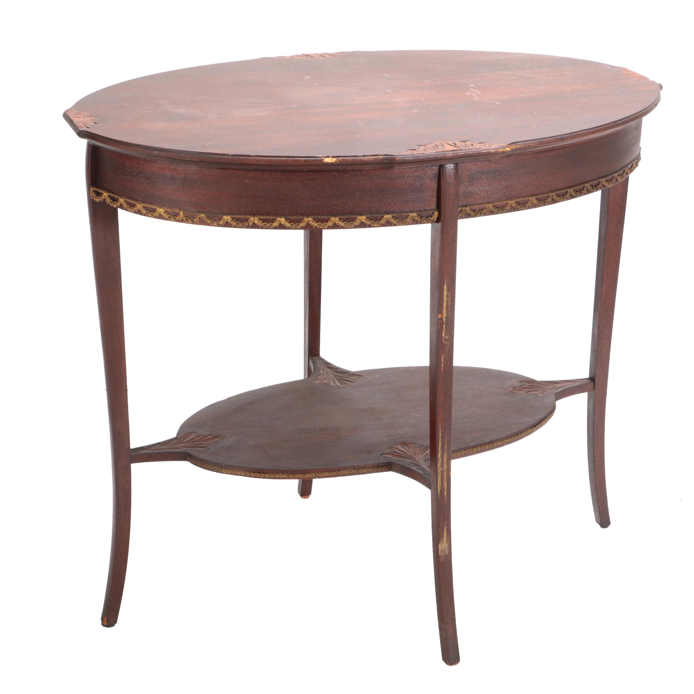 Antique Federal Style Mahogany Accent Table