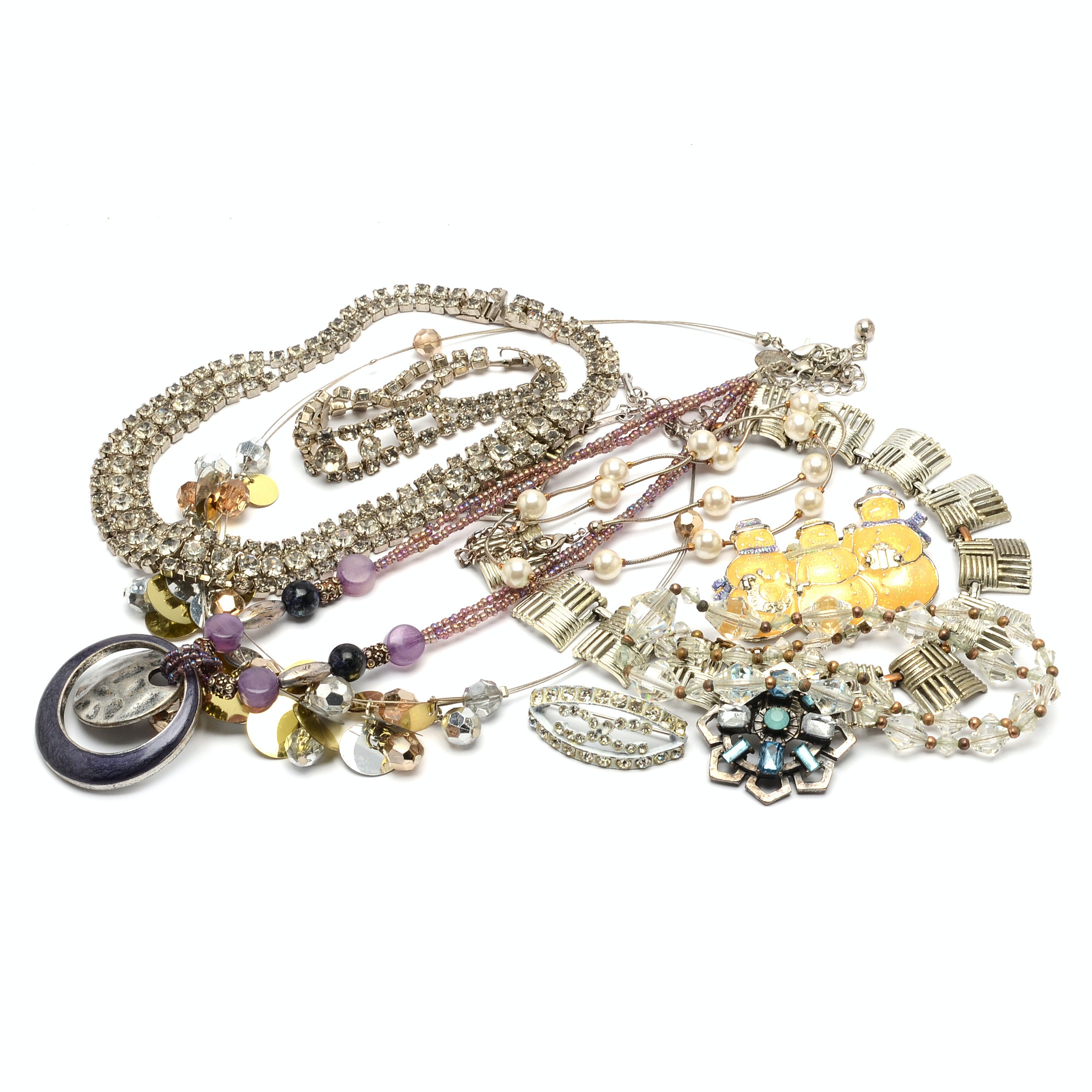 Selection of Silver Tone Jewelry