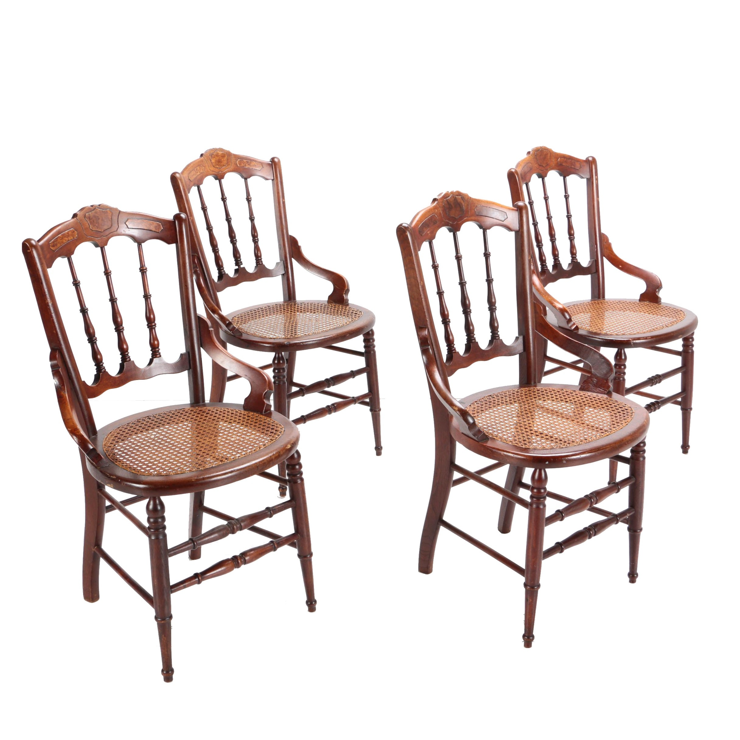 Vintage Eastlake Style Mahogany Side Chairs