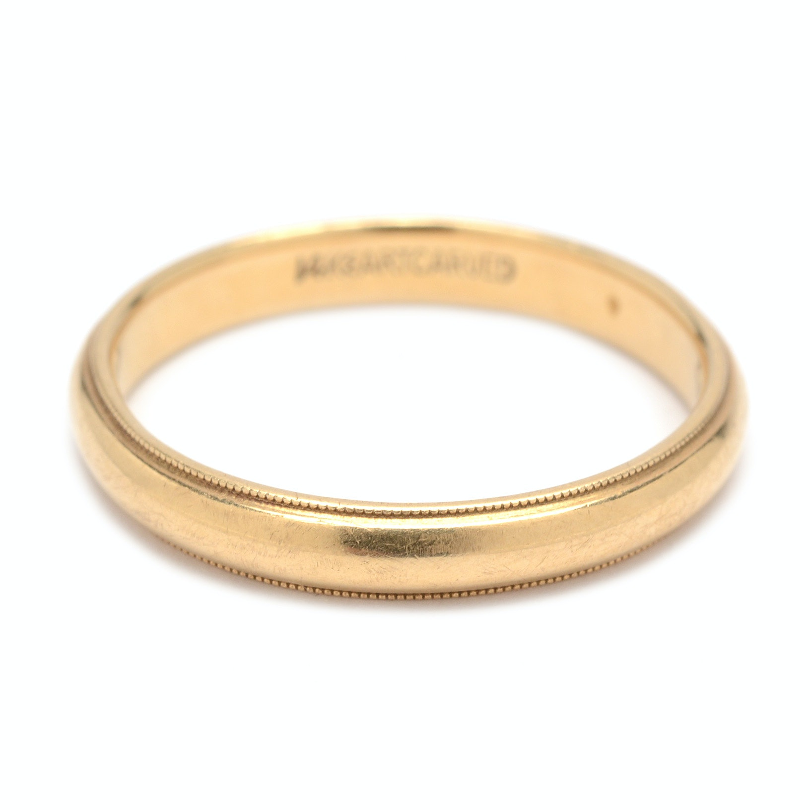 "14K Yellow Gold ""ArtCarved"" Ring Band"