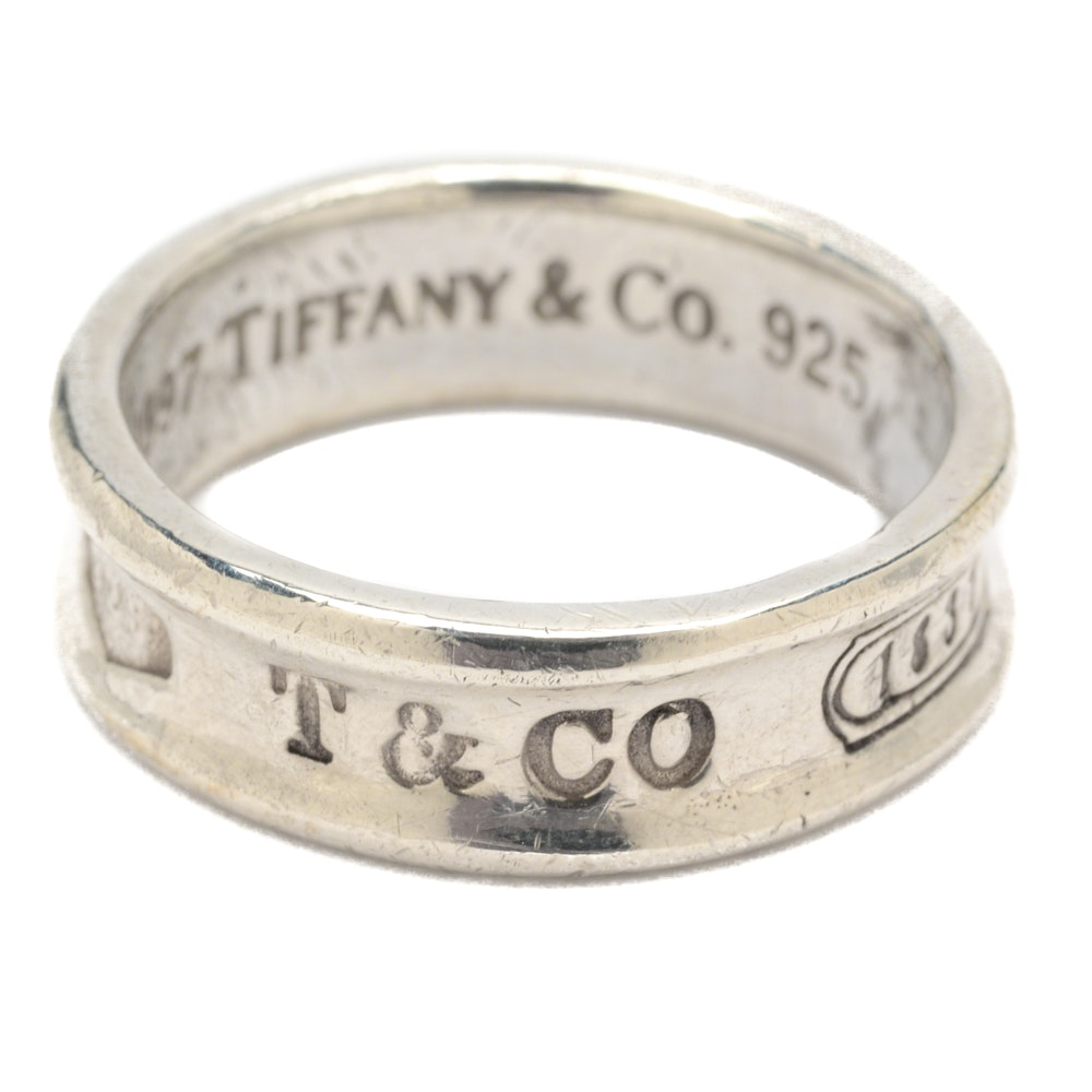 Sterling Silver Tiffany & Co. 1837 Collection Ring Band