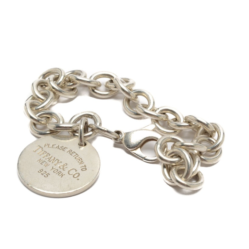 "Tiffany & Co. Sterling Silver ""Return to Tiffany"" Charm Bracelet"