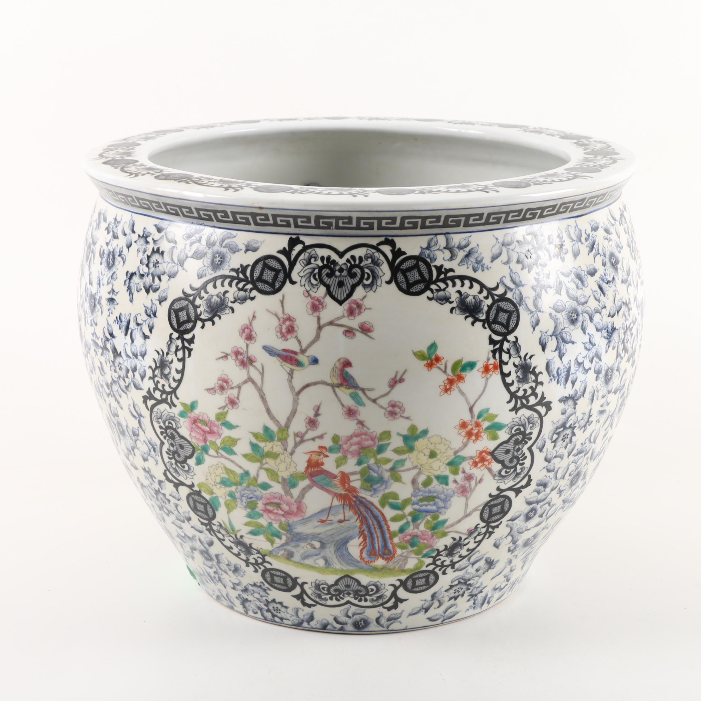Contemporary Chinese Fishbowl Planter