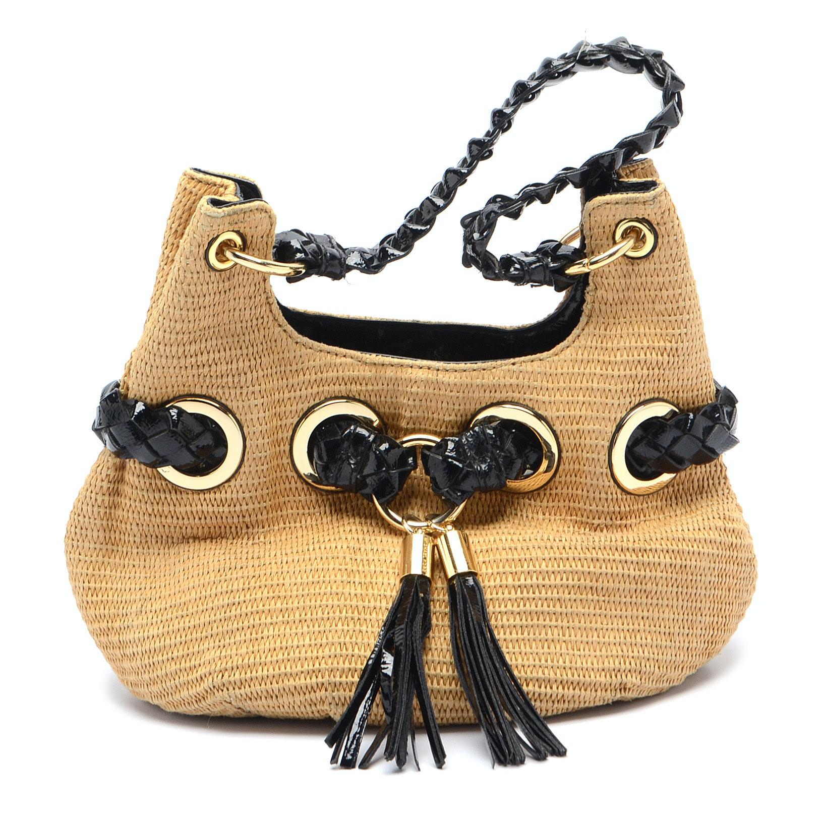 Michael Kors Woven Patent Handbag