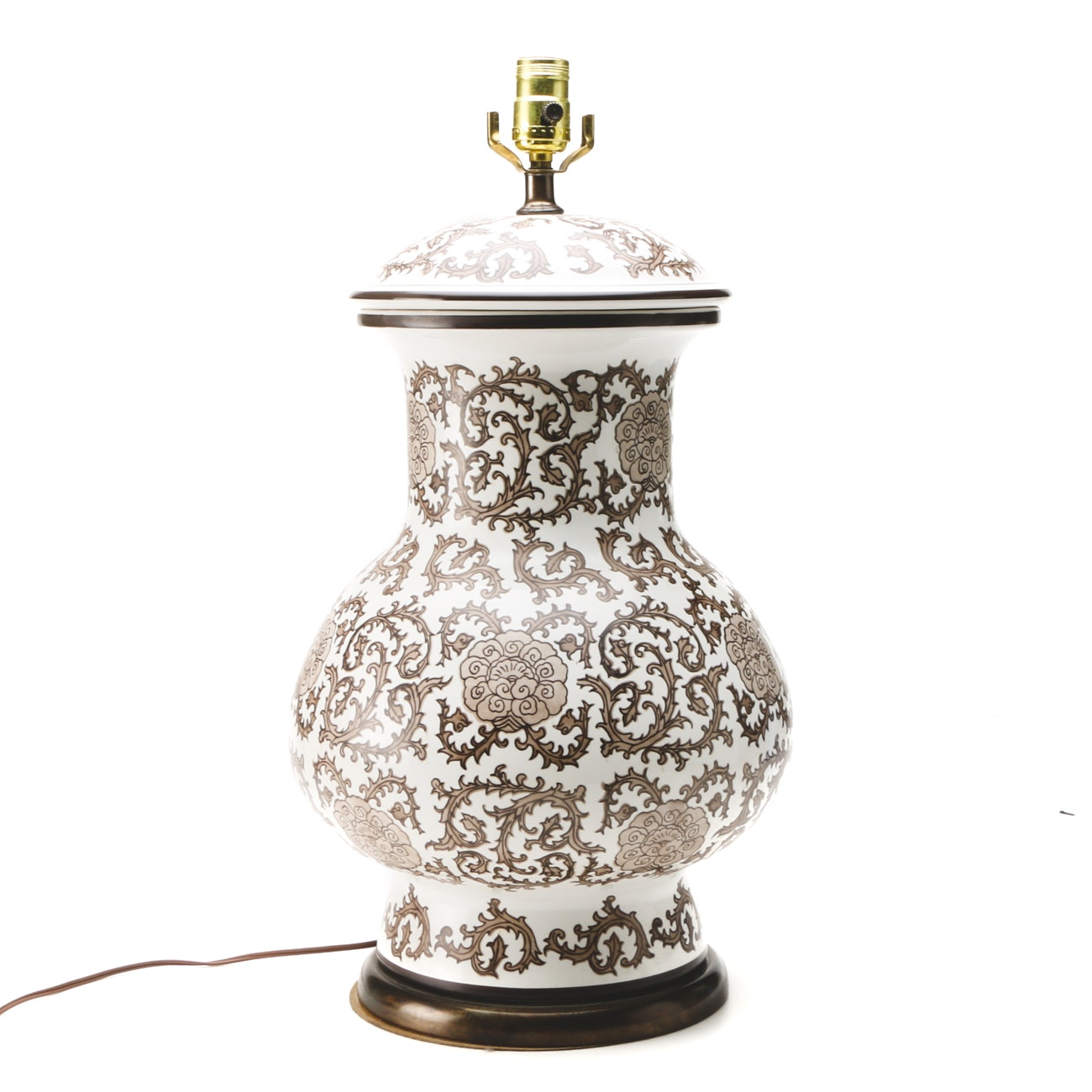 Decorative Chinoiserie Ceramic Lamp