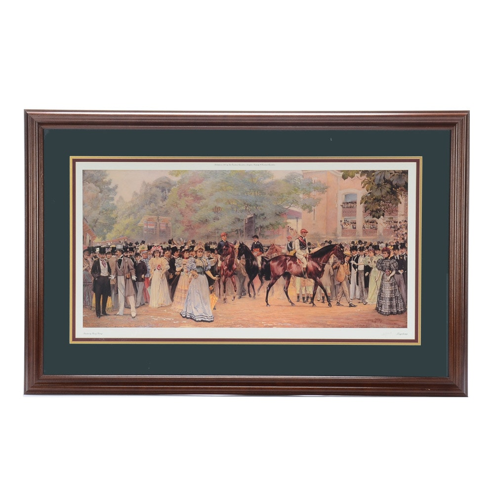 "Limited Edition Offset Lithograph after Harry Finney ""Longchamp"""