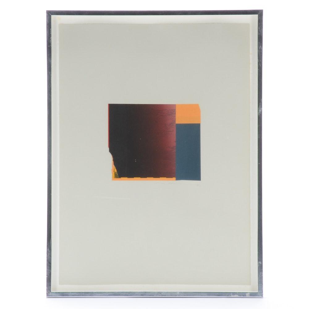Framed Modernist Mixed Media Collage