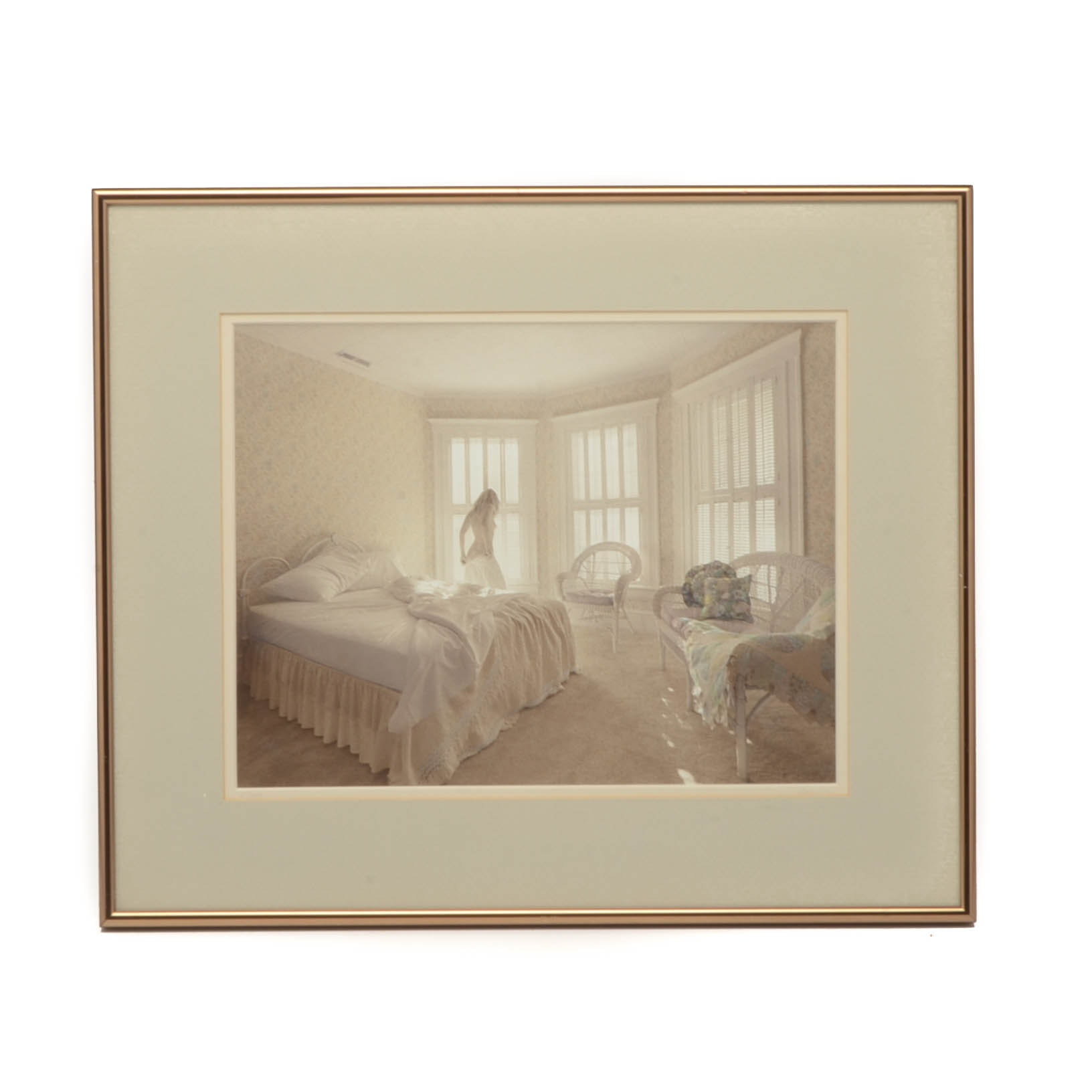 Norm Darwish Limited Edition Hand-colored Photograph of Woman in Interior