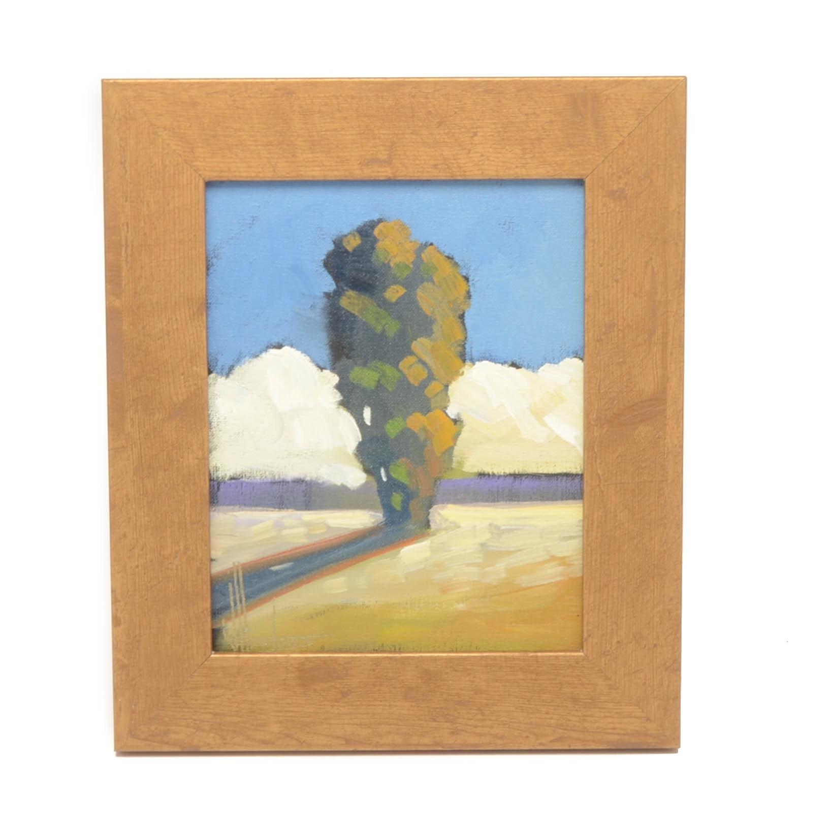 William Hawkins Original Oil on Canvas Board Landscape