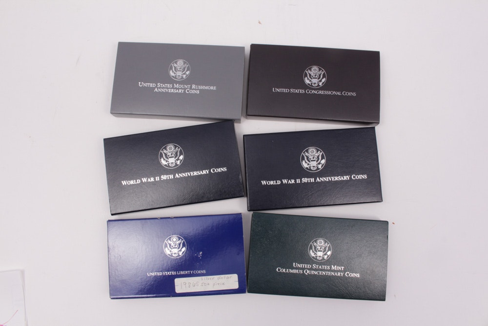 United States Mint Silver Proof Commemorative Coin Sets