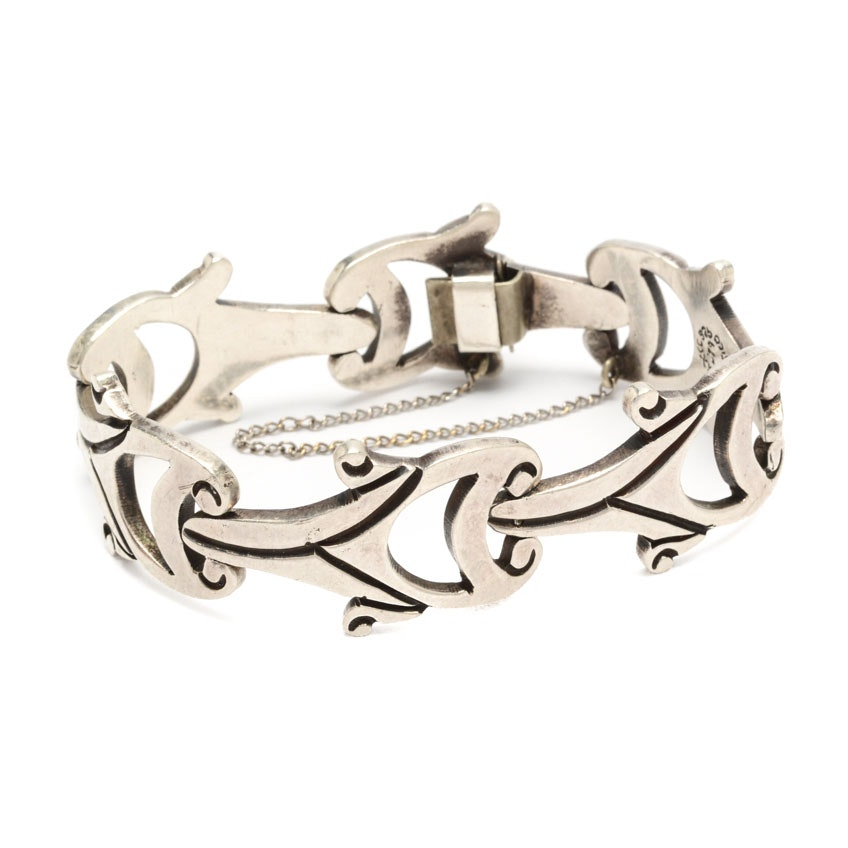 Sterling Silver Taxco Mexico Link Bracelet