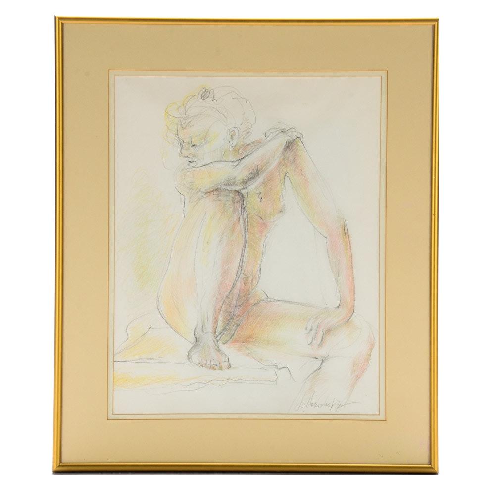 Joanne Honschopp Original Figure Drawing on Paper