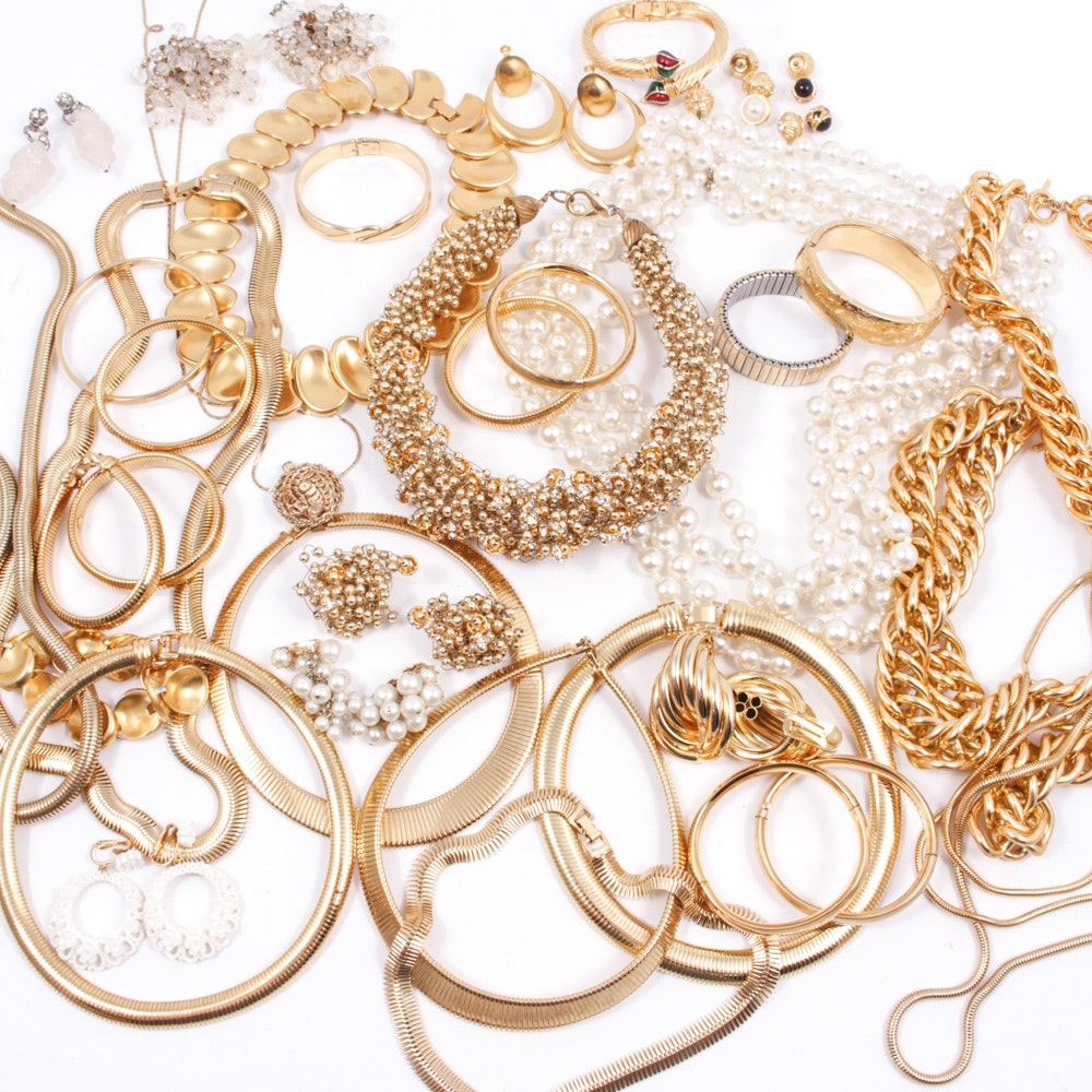 Gold Tone and Beaded Jewelry Featuring Joan Rivers